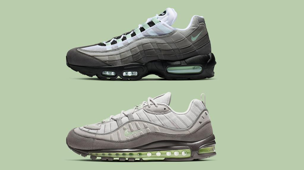 61c8f256b  ReleaseNews  the Nike Air Max 95 + Air Max 98 will be releasing in a grey    mint color way on May 10thpic.twitter.com VQv8T0biV9