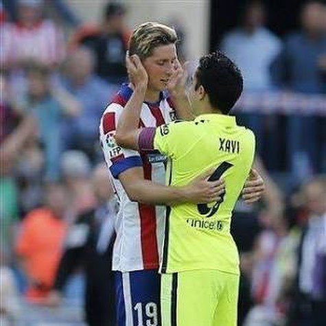 There will never be another like you Xavi. It has been a huge privilege to play and win by your side. Enjoy whats left of the season and my best wishes for whats coming. Thank you for everything you have given to football. #ThankYouXavi