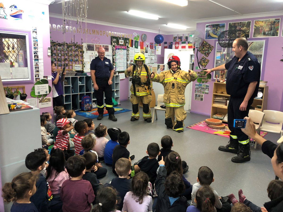 328936a941 The kids at the childcare centre had a ball learning all about fire safety,  checking out the big red truck and using the hoses.pic.twitter .com/R97ozLCScu
