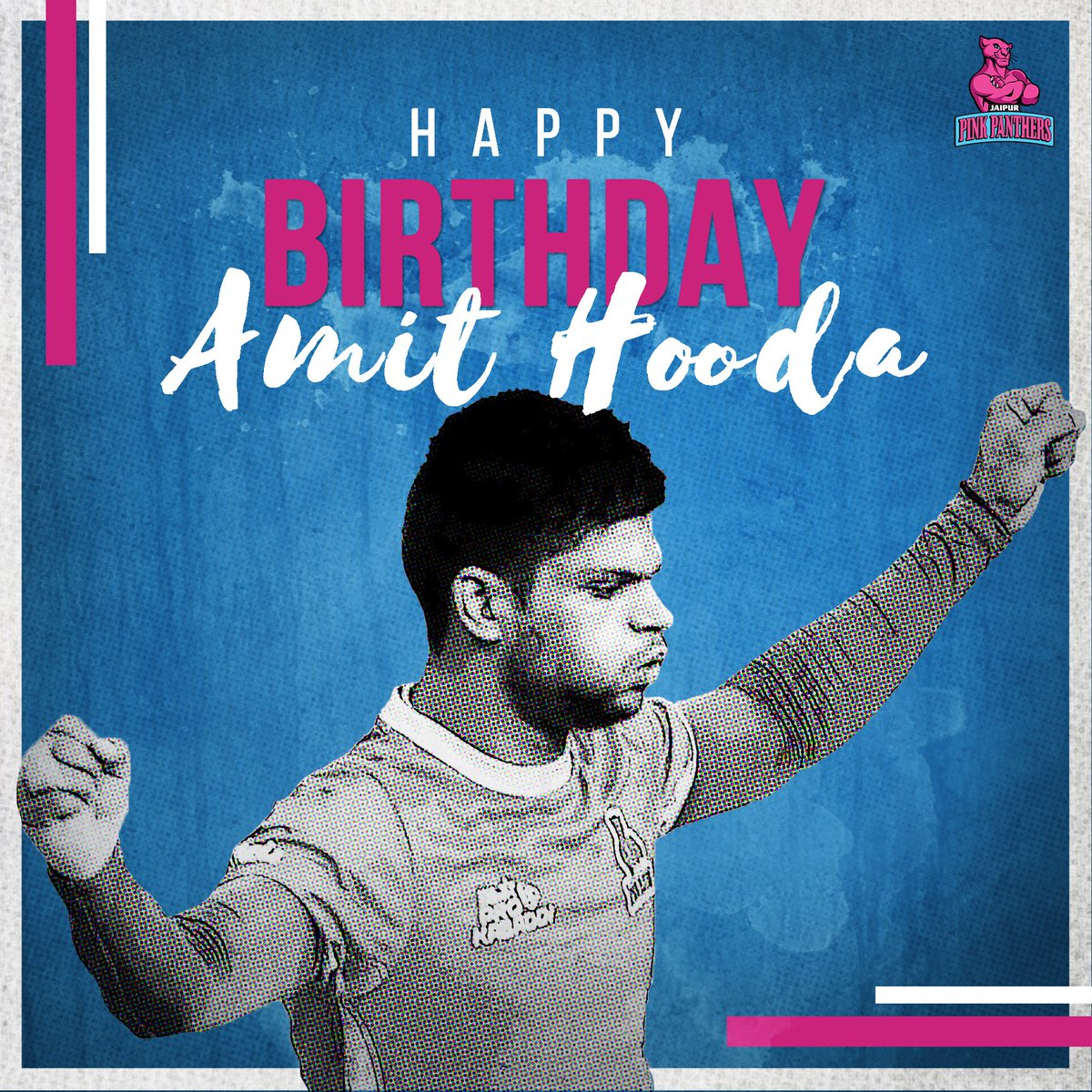 Wishing our fearless defender @AmitHoodajpp a very #HappyBirthday! Have a great season ahead!  #HappyBirthdayAmitHooda #AmitHooda #PantherSquad #Panthers #TopCats #JaipurPinkPanthers #JPP #Jaipur #Kabaddi #ProKabaddi