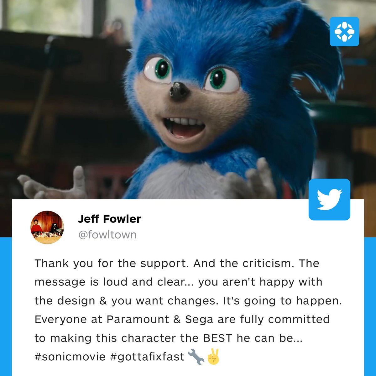 Ign On Twitter The Director Of The Sonic The Hedgehog Movie Has Stated That The Team Will Fix The Character S Look Before The Final Release Of The Film Https T Co Hyyxbrrmen