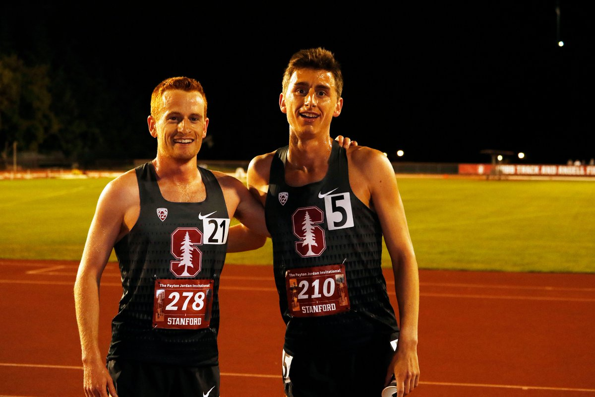 Connor Lane and Alex Ostberg run huge lifetime bests in the 5,000 at #PaytonJordan. Lane goes 13:42.41 and Ostberg 13:42.44. Their bests were 13:59.