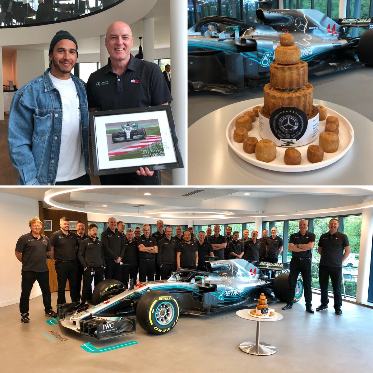 Early retirement beckons. 24 years in #F1 comes to an end  the boys and girls @MercedesAMGF1 gave me a fab send off. #Proud #Mercedes family taming the prancing Horses and energised Bulls. 6 #worldchampionships #StewartGP #JaguarRacing #BAR #HondaF1 #Brawn #MercedesAMGF1 – at Mercedes-Benz Grand Prix
