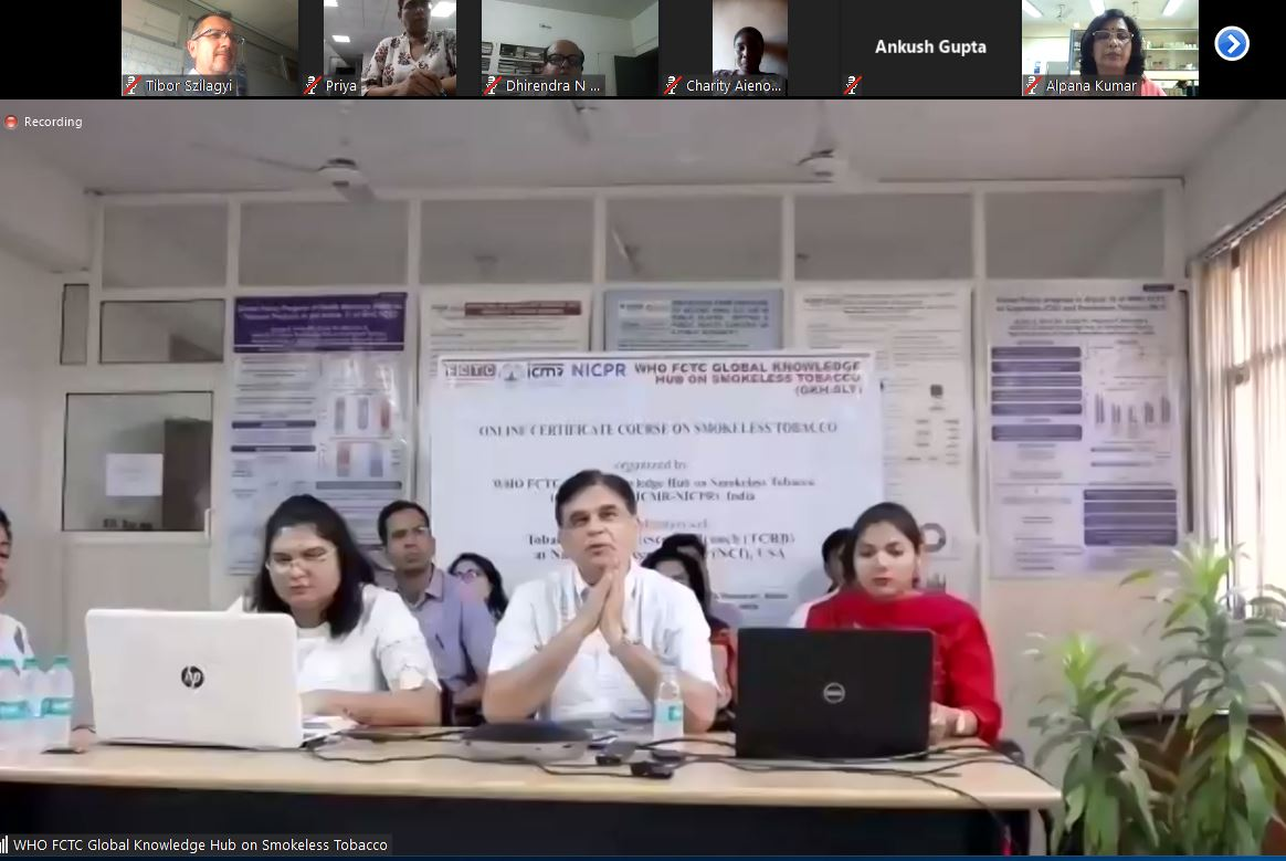 India: @GKH_SLT launching the first 3-months online course on SLT policies with almost 80 participants from more than 10 countries. The course will focus on how to apply @FCTCofficial policies to smokeless tobacco (details at: https://untobaccocontrol.org/kh/smokeless-tobacco/slt-certificate-course/…)