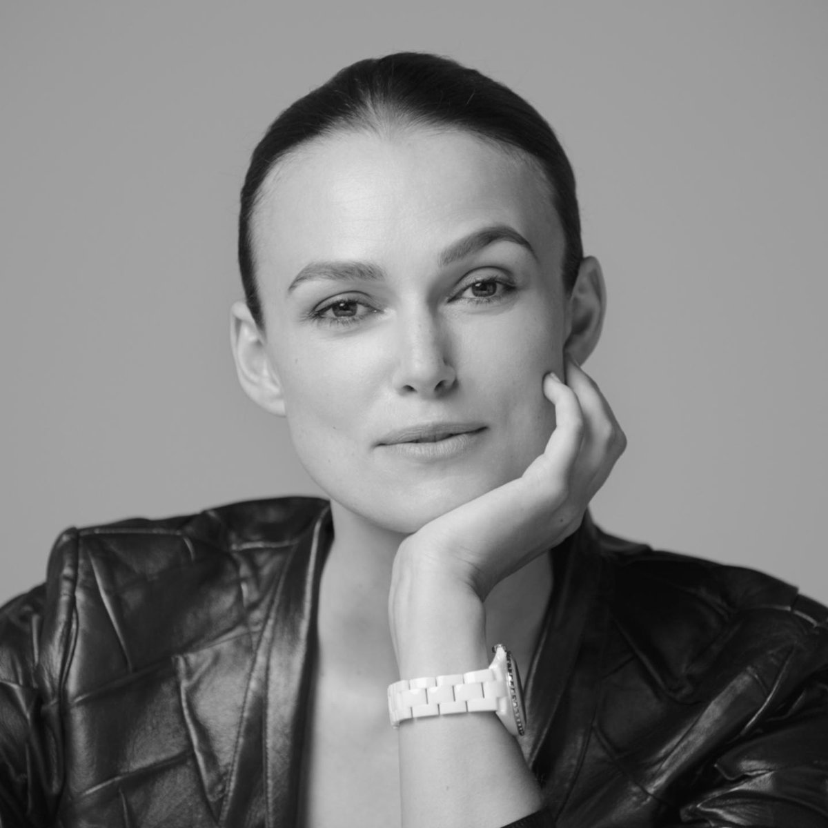 """Every job I take or don't take is a decisive moment."" Keira Knightley wears the white ceramic version of the new J12 watch and tells us about how she views time and the seconds that changed her life. Discover on http://chanel.com/-j12KeiraKnightley … #TheNewJ12 #ItsAllAboutSeconds"