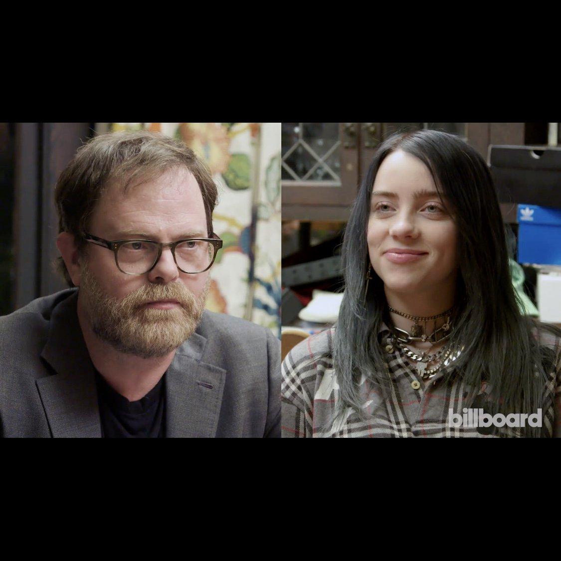 Watch Billie take 'The Office' Quiz with @rainnwilson. @billboard https://www.youtube.com/watch?v=ibbkmS_tvVQ…