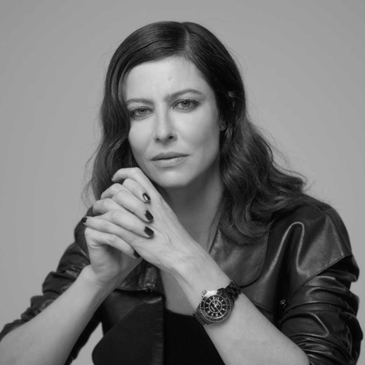 """""""Time is rhythm, it's music in fact, well when we accept to listen to it."""" Anna Mouglalis wears the black ceramic version of the new J12 watch. Discover on http://chanel.com/-j12AnnaMouglalis… #TheNewJ12 #ItsAllAboutSeconds"""
