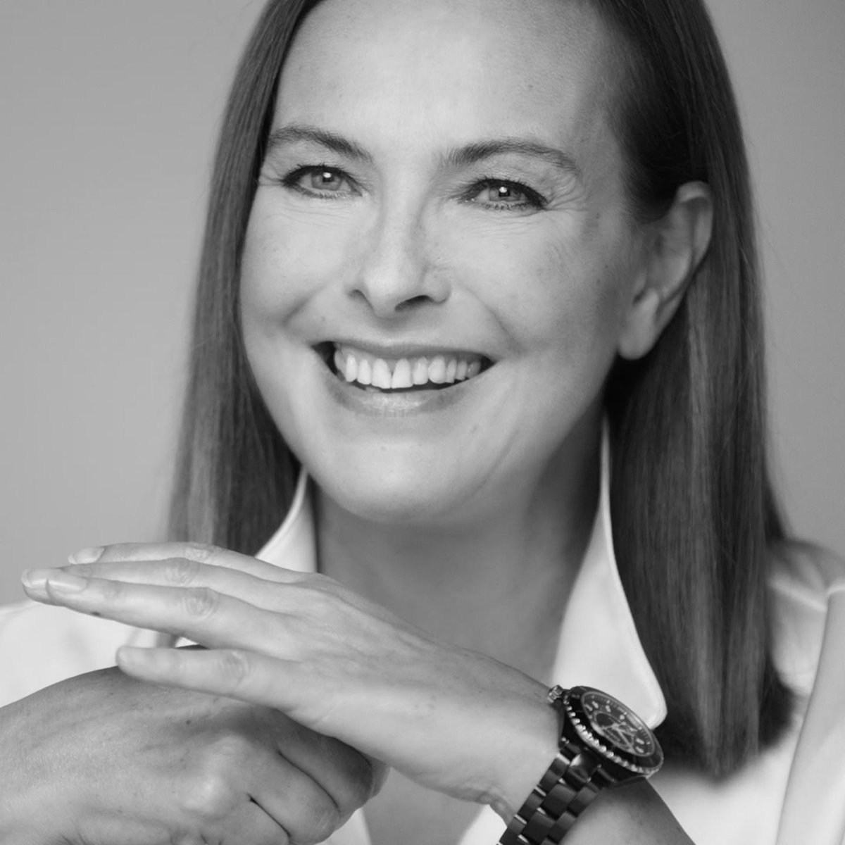 """""""I love the really early morning, when the day begins."""" Carole Bouquet wears the black ceramic version of the new J12 watch. Discover on http://chanel.com/-j12CaroleBouquet…#TheNewJ12 #CHANELWatches #ItsAllAboutSeconds"""