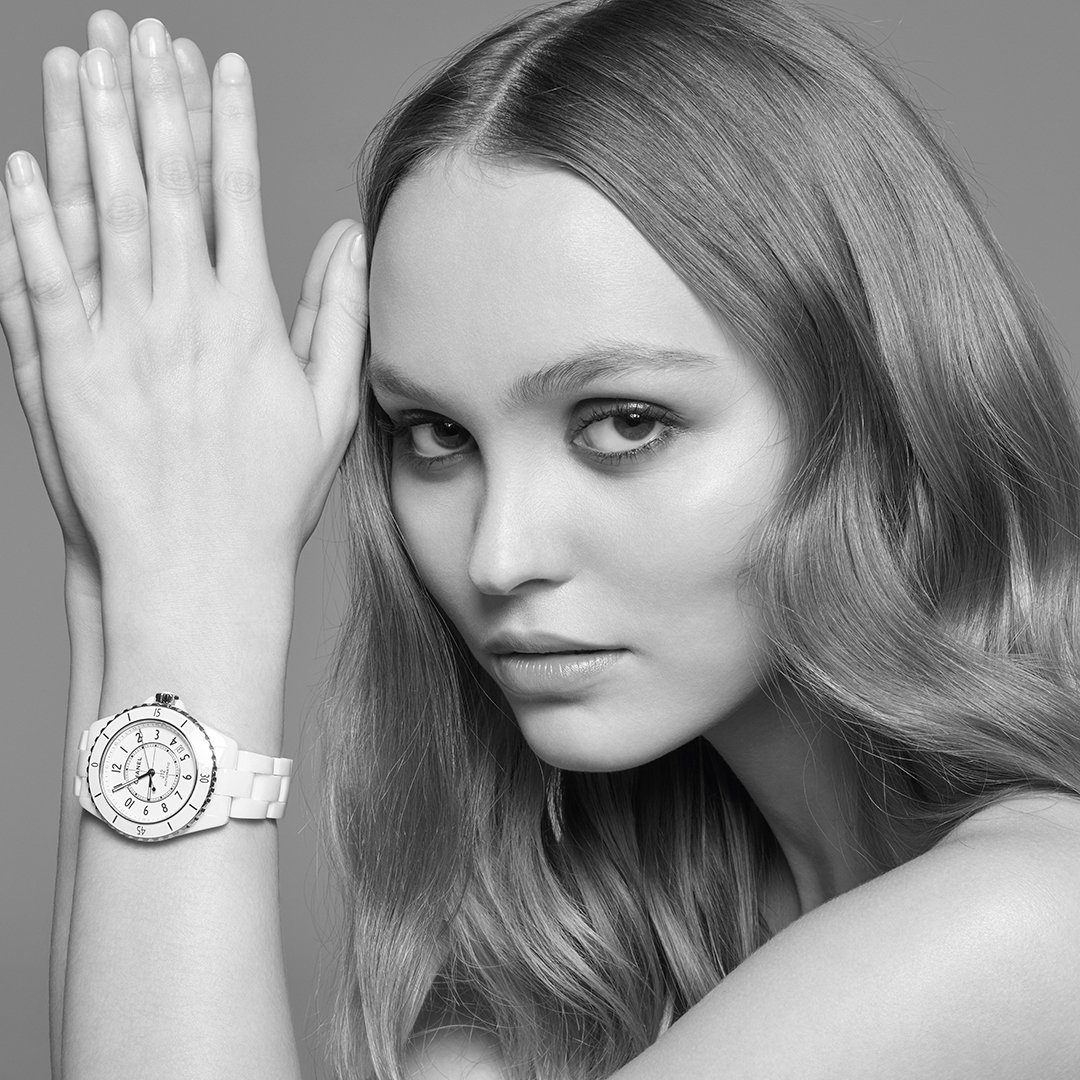 THE NEW J12. IT'S ALL ABOUT SECONDS. Stop for one second to discover the new J12. A legend in watchmaking, the timepiece has been reinvented while preserving its identity. A new way to see time. Discover the watch on http://chanel.com/-j12lilyrosedepp… #TheNewJ12  #ItsAllAboutSeconds