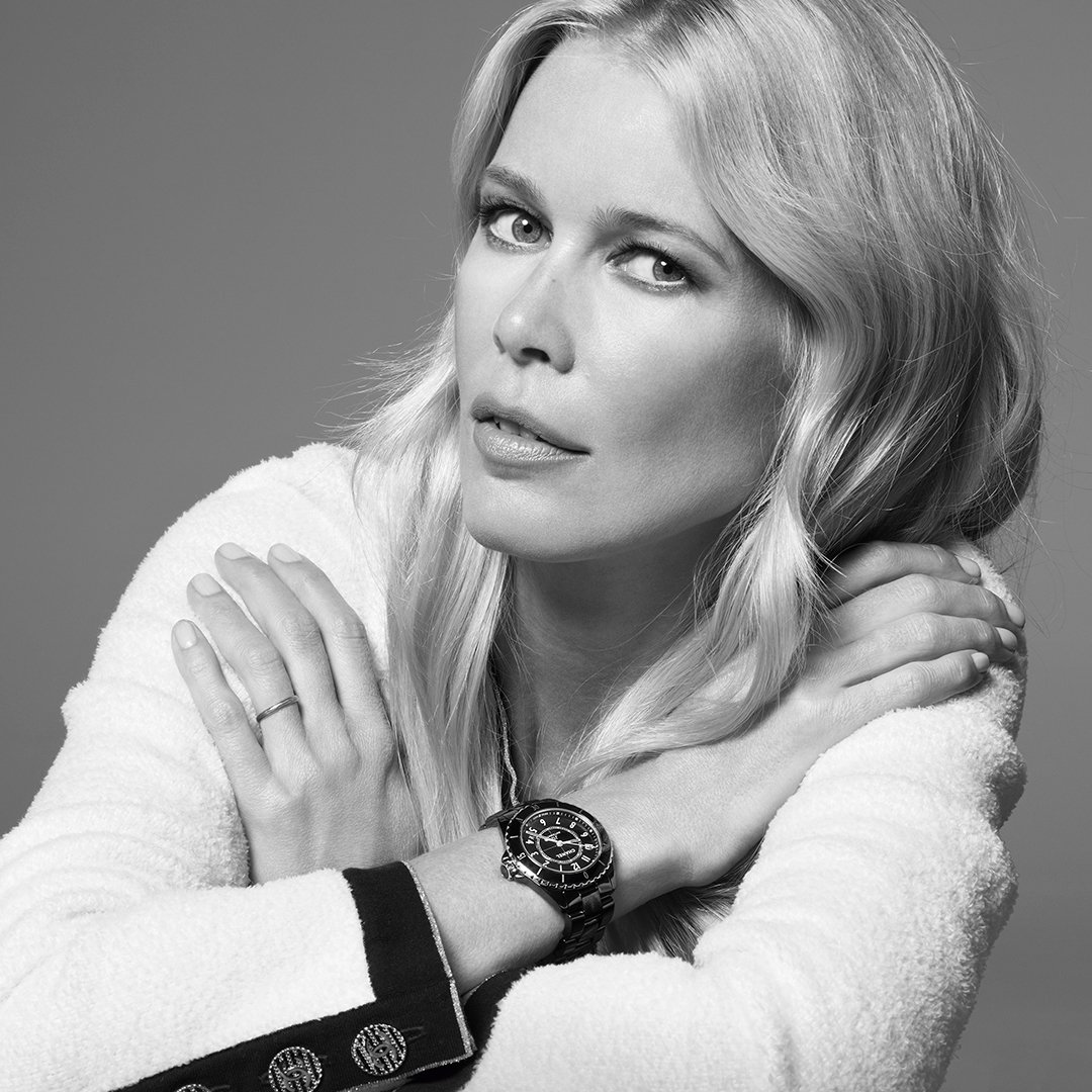 THE NEW J12. IT'S ALL ABOUT SECONDS. Stop for one second to discover the new J12. A legend in watchmaking, the timepiece has been reinvented while preserving its identity. A new way to see time. Discover the watch on http://chanel.com/-j12claudiaschiffer… #TheNewJ12  #ItsAllAboutSeconds