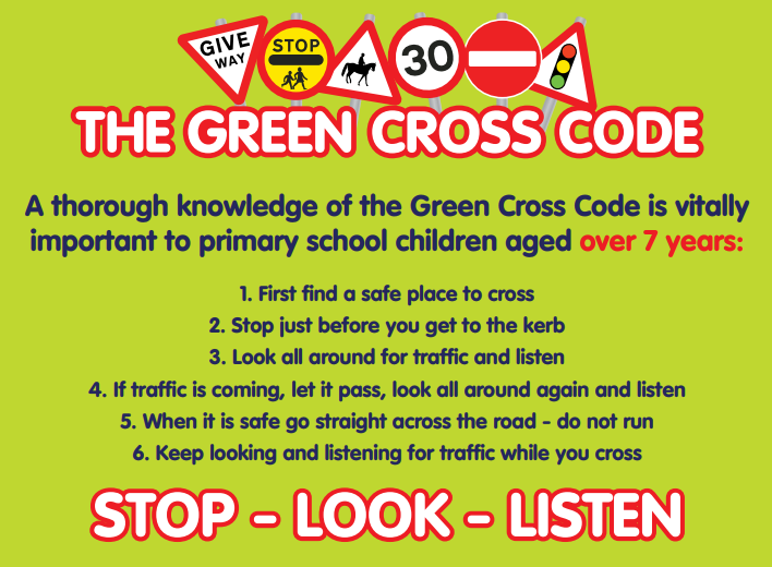 Image result for green cross code rules