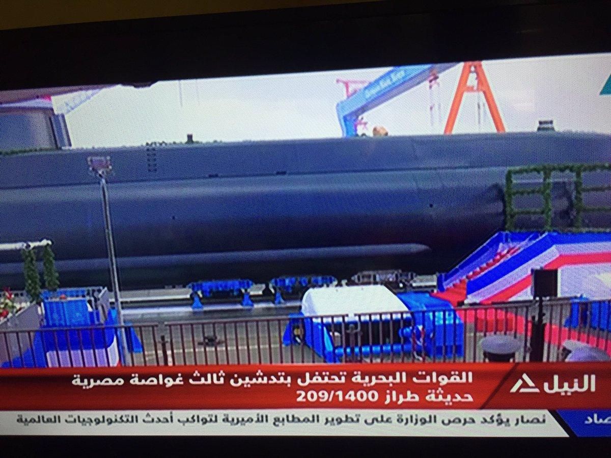 القوات البحرية المصرية تتسلم الغواصة الثالثة الألمانية الصنع المتطورة من الفئة Type-209/Mod1400 والتي تحمل الترقيم S43 في مدينة كيل الألمانية. D5ojv-JXkAA2nr2