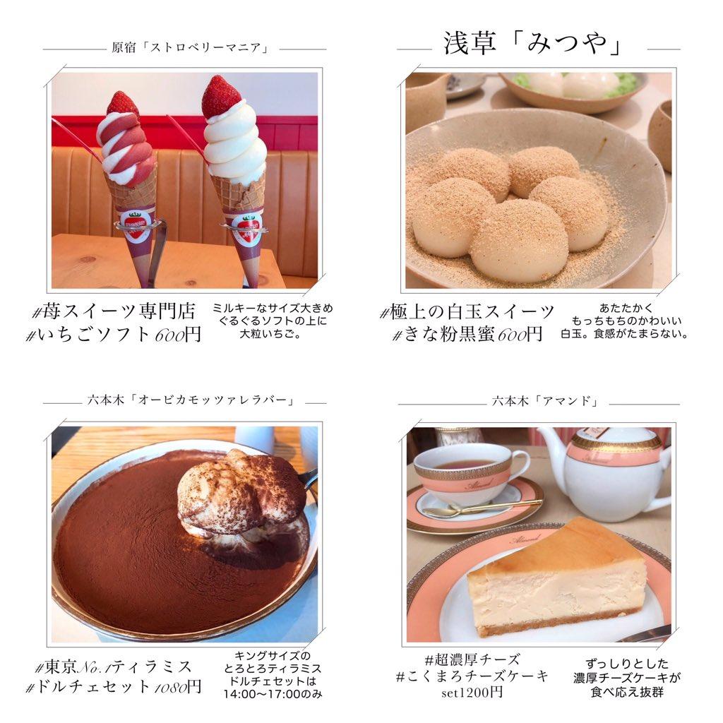 美味しそう・【東京】のスイーツ8選・どれも美味しそうで選べない!!