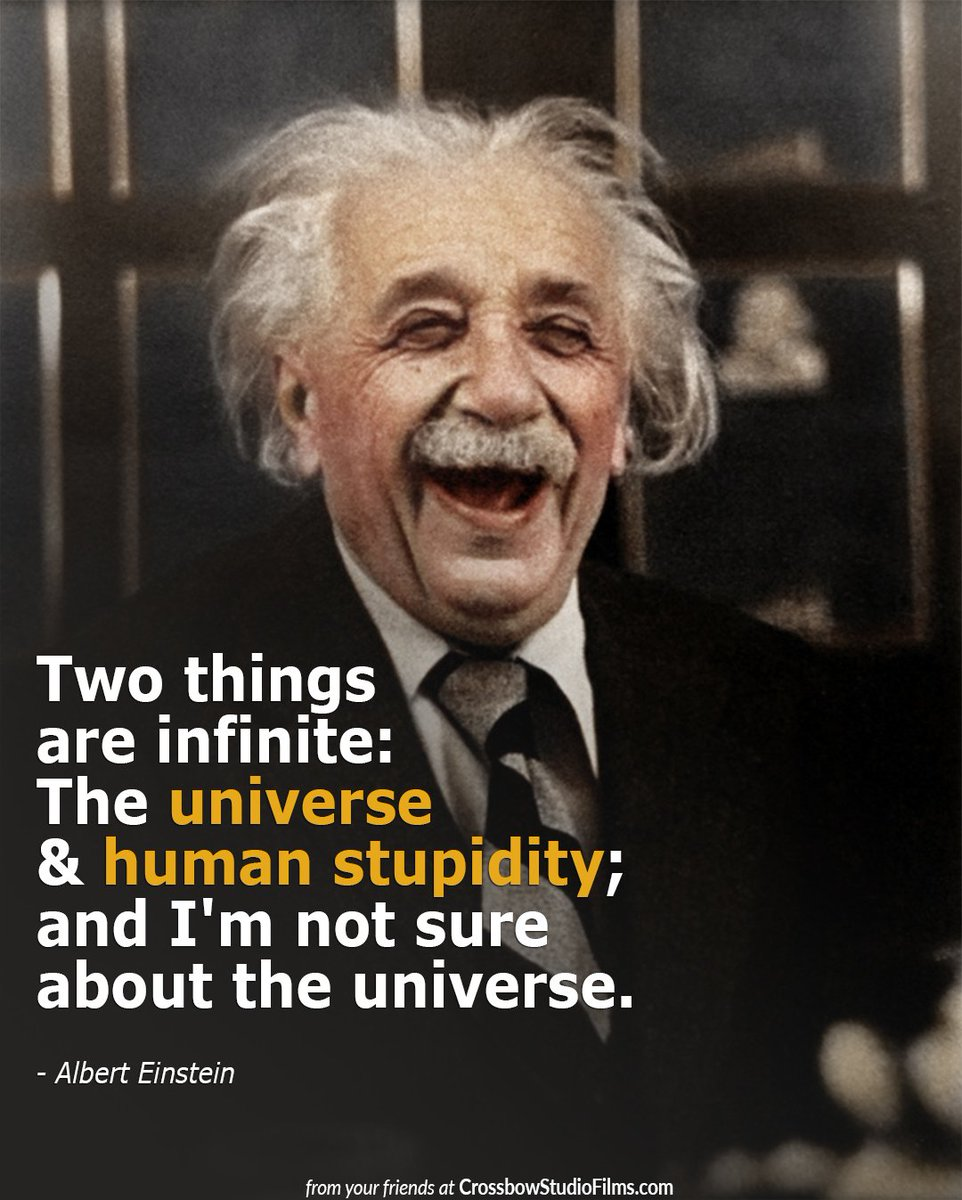 Image result for two things are infinite: the universe and human stupidity; and I'm not sure about the the universe.
