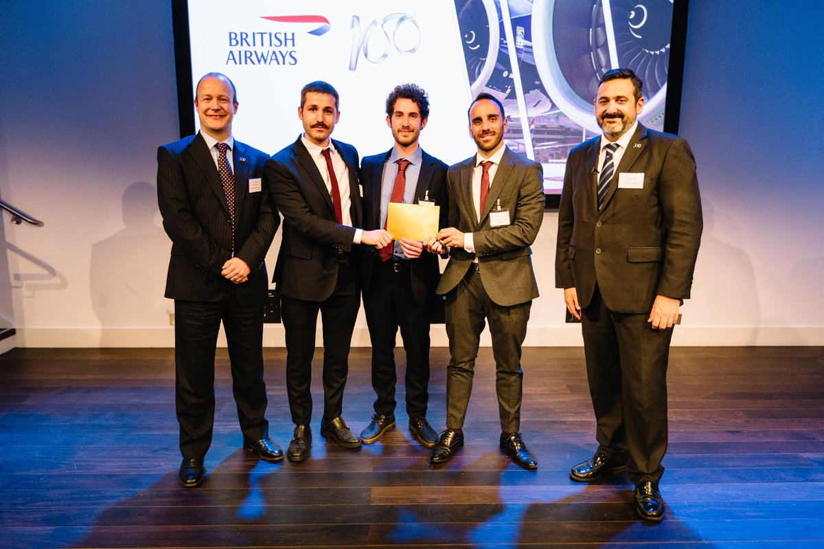 And the winners, receiving £25,000 and a number of speaking opportunities, is UCL who wowed us with their ideas on waste to jet fuel with renewable hydrogen. Congratulations! #BA100