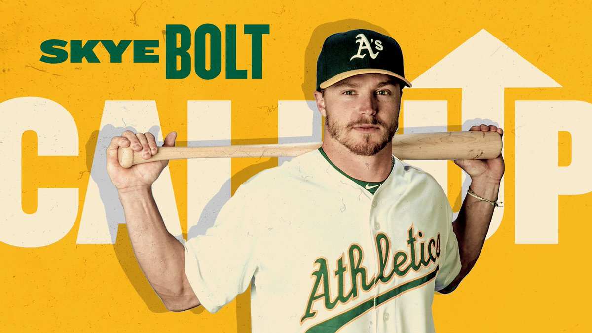 The time has come ⚡️ @Skyebolt20 is on his way to The Show.  #RootedInOakland