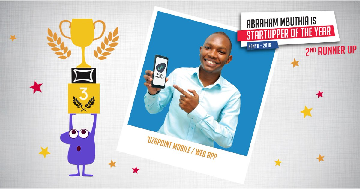 We celebrate the second runner up of the 2019 #TotalStartupper of the Year Challenge: Abraham Mbuthia of @UzaPoint  💡 This Mobile App helps kiosk owners to automate business operations. Learn more on the 2019 #TotalStartupper Challenge >>>  http://tot.al/CWrgIH