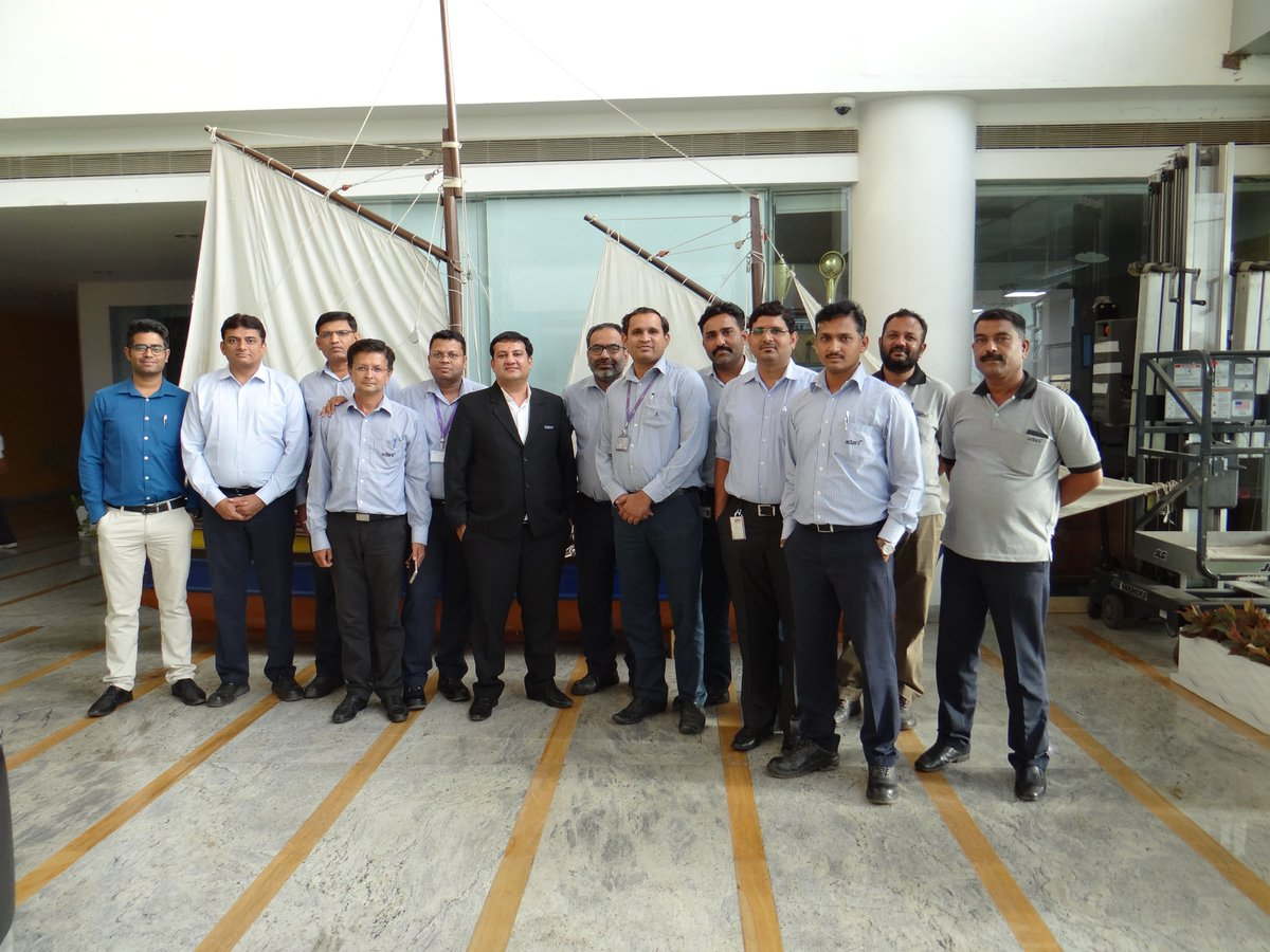 """Glimpse of #training program organised by #MundraPort for it's employees. The program was successfully conducted and delivered by Mr. Anand Thacker (Director, #IISFT) and the topic addressed was regarding """"Containerisation and Multimodal Transport"""". https://t.co/u8IDSmNTgL"""