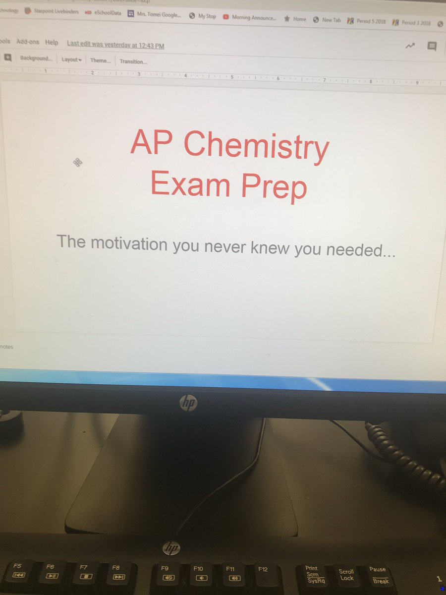 """For 2 weeks leading up to the exam I show a """"motivational"""" scene from a movie. They don't have anything to do with AP Chem but we always make analogies to the exam. It's funny, a nice break from FRQ, and exposes Ss to movies made before they were born #apchemchat #motivation"""