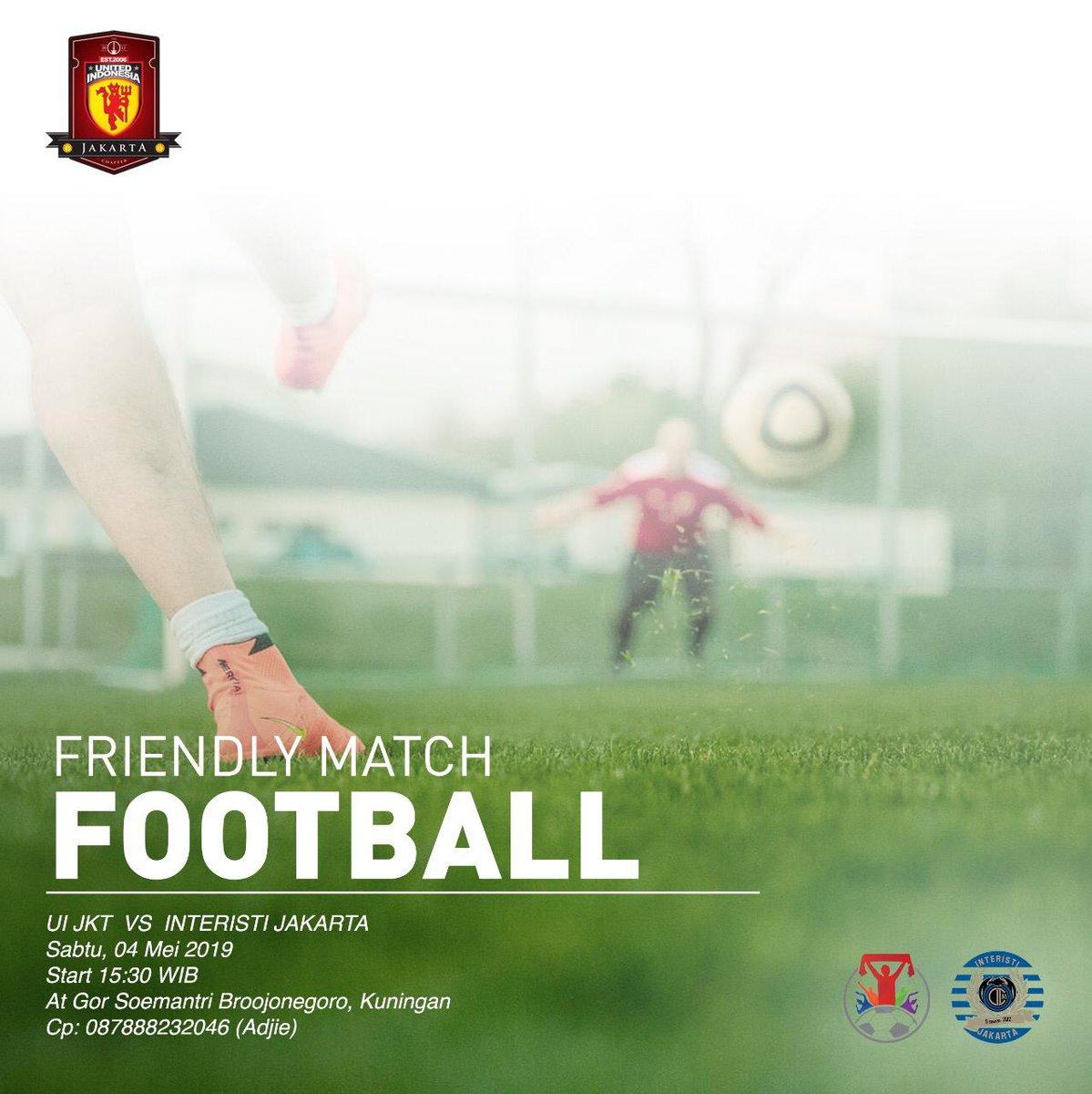 Yuks merapat, bagi yang belum ada acara besok jam 15.30 - 18.00 dan ingin ikut sparing bola bersama #UIJKT vs @ICI_Jakarta langsung aja hub cp yg ada di gambar!   #UIJKT