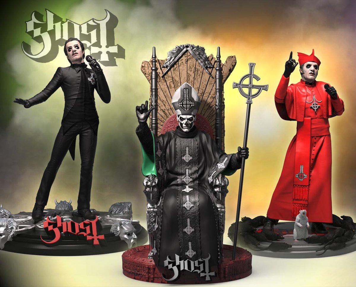 Resultado de imagem para Ghost ganha estátuas pela Rock Iconz