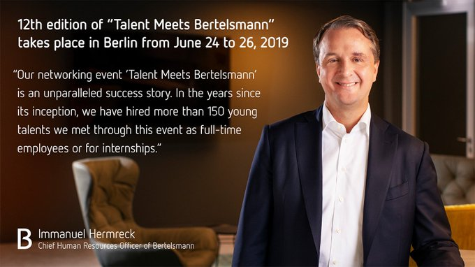 fb66117419f1f Only 2 days left to apply for Talent Meets Bertelsmann 2019! Details here:  https://t.co/LctPoGqEb3 #TMB19 https://t.co/FiJxQ3tAAE