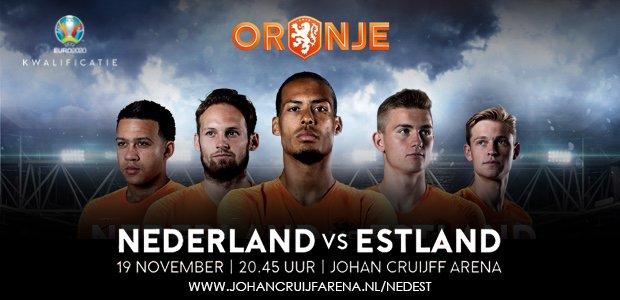 🦁 Op dinsdag 19 november neemt het Nederlands elftal het in de EK-kwalificatie op tegen Estland. Kaarten voor de wedstrijd zijn nu al verkrijgbaar!  🎫 http://goo.gl/KqaH5C  #nedest