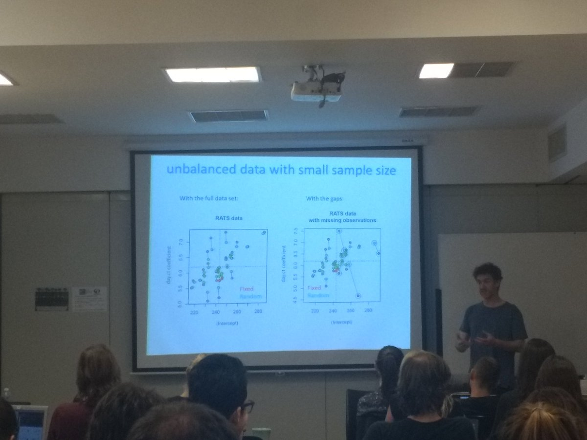 Super interesting insights on fixed vs random effect models by @TCornulier at our #LATAMCONTAIN workshop...there is no free lunch when it comes to parameter estimation!