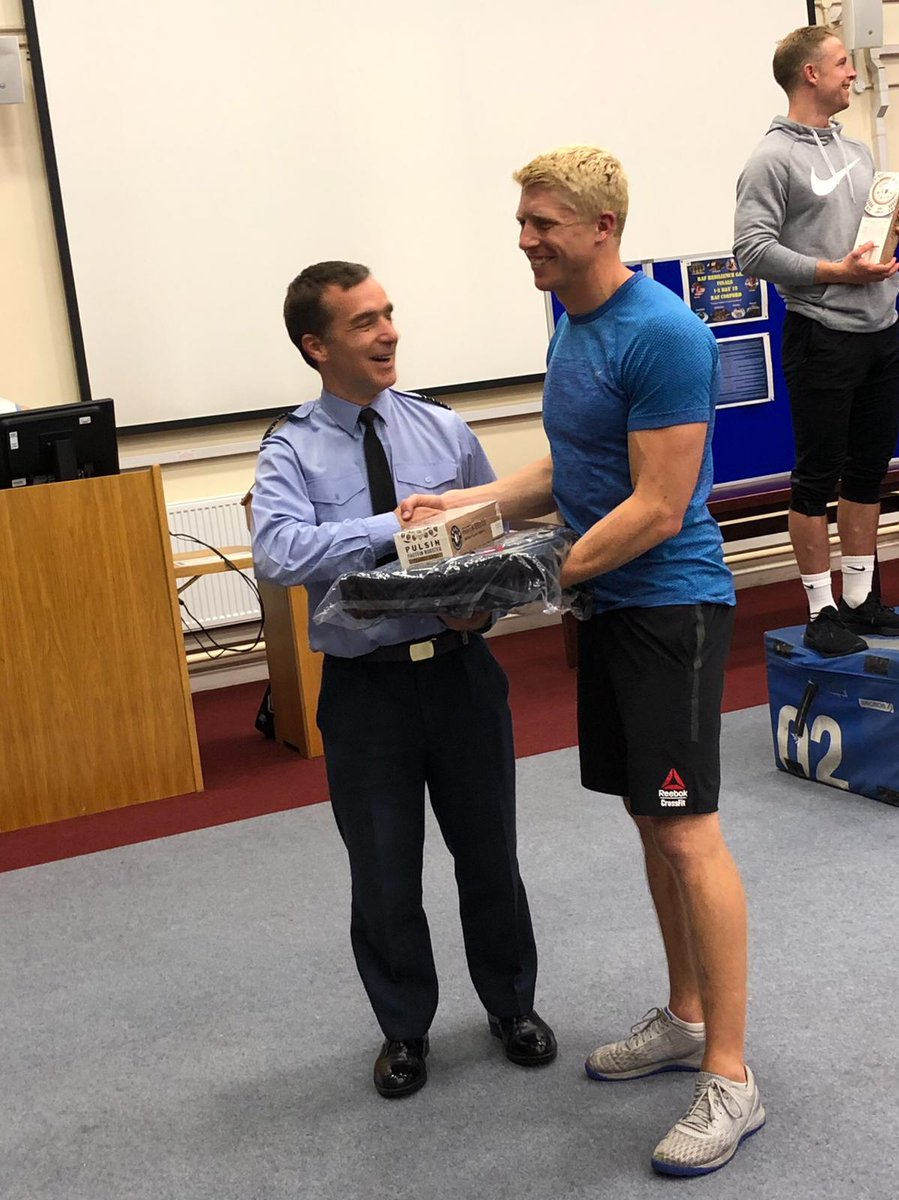 Huge congratulations to one of our pilots for winning the @RoyalAirForce Resilience Games at @RAF_Cosford this week. Fitness is a big part of being in the military, and Toogs showed he has excellent all-round fitness, beating an impressive field. #NoOrdinaryJob #CrossFit