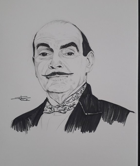 Croquis 95 as Hercule Poirot Happy Birthday to