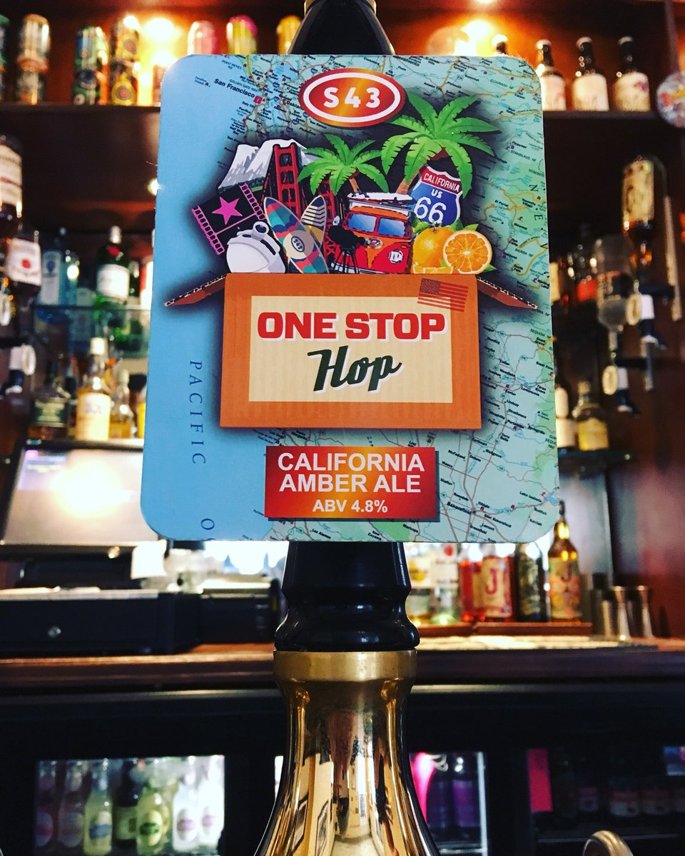 One quick stop for a pint of one stop hop! #americanpaleale #headofsteamhuddersfield #sonnet43brewhouse #sonnet43 #amberale #onestop