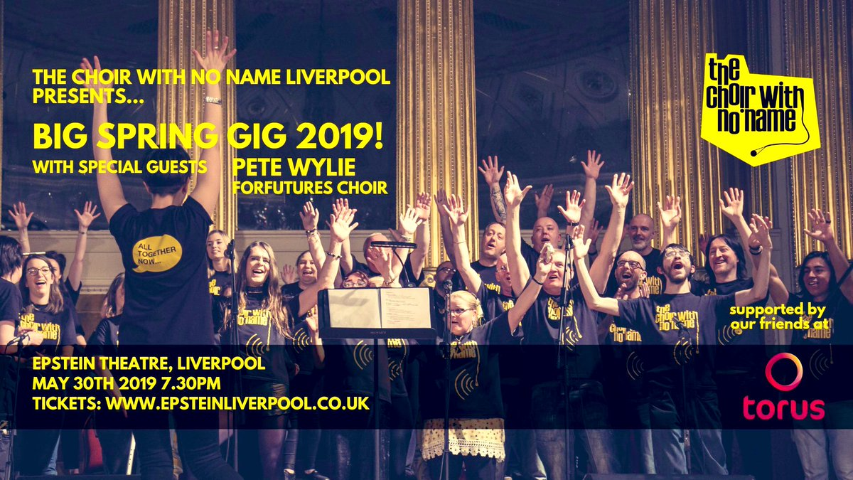6721ca43 It's going to be epic. Tickets ON SALE NOW:  https://www.epsteinliverpool.co.uk/events/choir-with-no-name/ …  @WeAreToruspic.twitter.com/jlgMXZTmiz