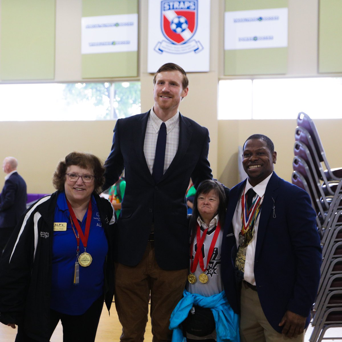 9f90ec24966 earlier this morning derrick white and matt bonner helped kick off the 2019  special olympics summer