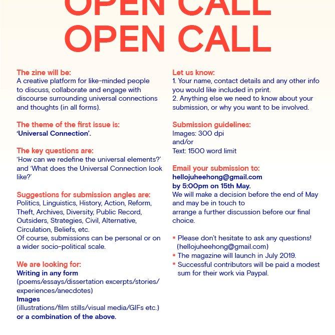 Open call from @RCAvisualcomm alumni Ju Hee 👍 https://t.co/DKPdE4LGrg