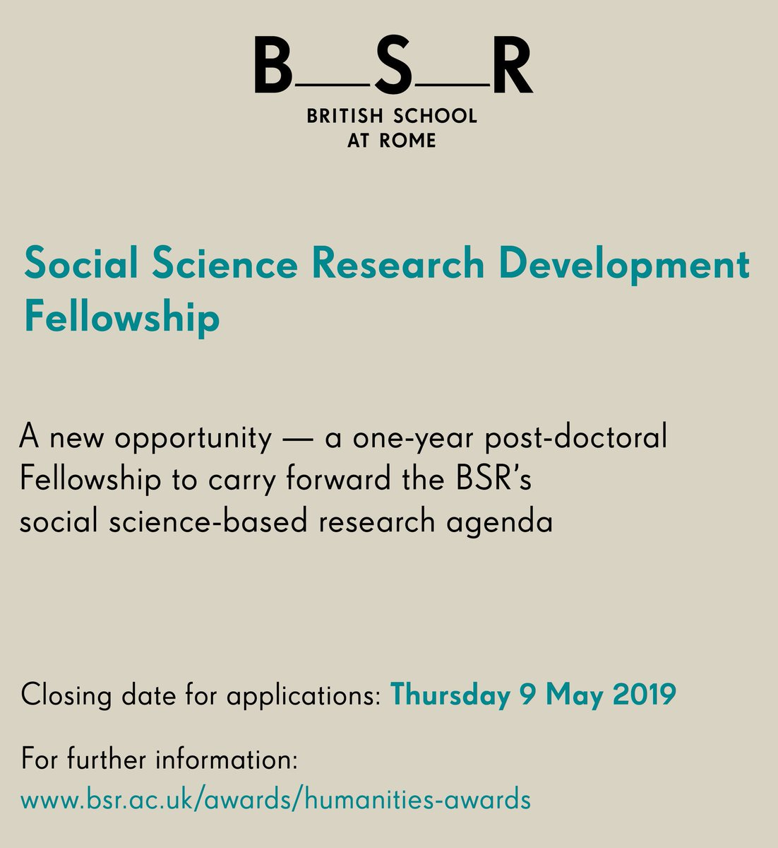 0fd0ad1ed68 ...  socialscience  postdoctoral  fellowship based in  Rome at  the bsr!  For further details and an application form