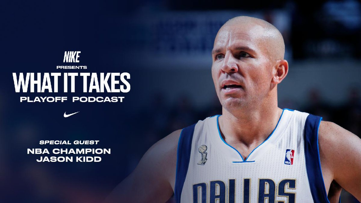 """Hall of Famer @RealJasonKidd dishes out his thoughts on @Giannis_An34's playoff run on the new episode of the """"What It Takes"""" podcast.  LISTEN NOW: http://smarturl.it/WhatItTakesEp3 #nbaplayoffs #nike #justdoit"""