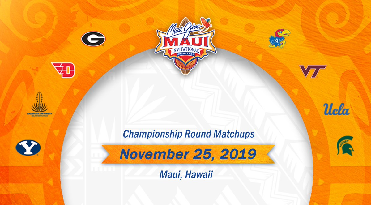 The 2019 @MauiInv will feature some of college basketball's most established programs, including @DaytonMBB, @UGABasketball, @KUHoops, @MSU_Basketball, ...