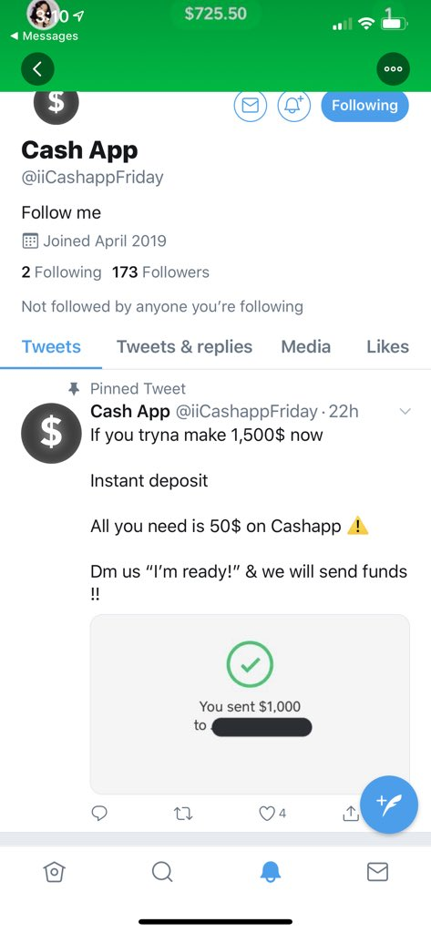 Fake Cash App Payment Screenshot