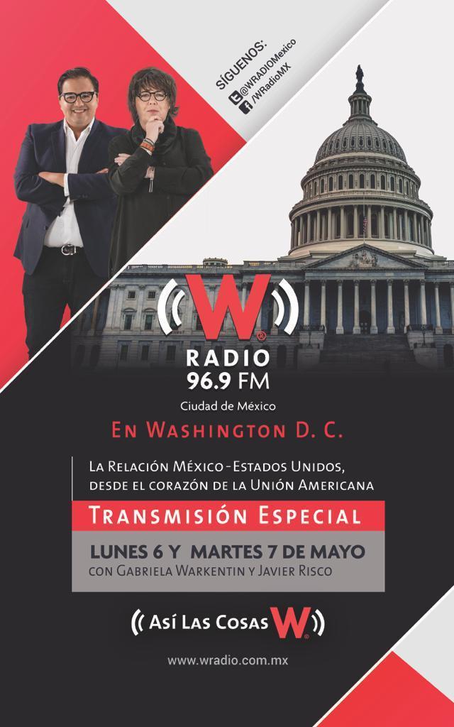 Dicen que @warkentin y @jrisco transmitirán desde Washington la próxima semana.Así que no se los pierdan en @WRADIOMexico.(¿Verdad que son como los Underwood de la radio?).Bueno, escúchenlos en el 96.9 FM y en http://wradio.com.mx