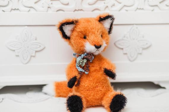 Amazon.com: Vietsbay Tiko Fox Handmade Amigurumi Stuffed Toy Knit ... | 380x570