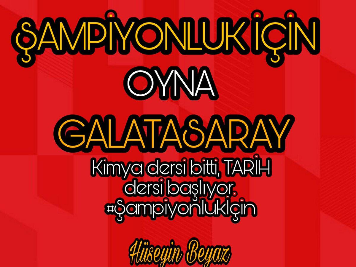 Kimya dersi bitti, TARİH dersi  Başlıyor. #Şampiyonlukİçin #Galatasaray #MayıslarBizimdir #GalatasarayTekSizHepiniz #GalatasarayKimseyeBoyunEğmez #TeknolojiVARadaletYOK  #HakkaniyetliYönetimHakem