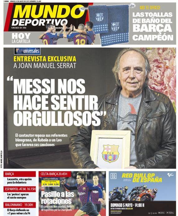 ترجمة غلاف صحيفة موندو ديبورتيفو 04-05-2019 D5rZRivXoAAxNYD