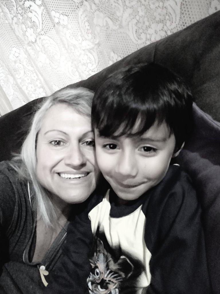 Hoje quem veio dormir com a vovó foi meu anjo Miguel.💙 #anjomiguel👼