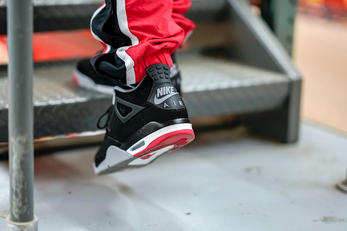 6e3089fe90c The  Jumpman23 Retro 4  Bred  Returns In The Morning. Are You Coppin  A  Pair  http   finl.co thO pic.twitter.com jYmBodIUzB