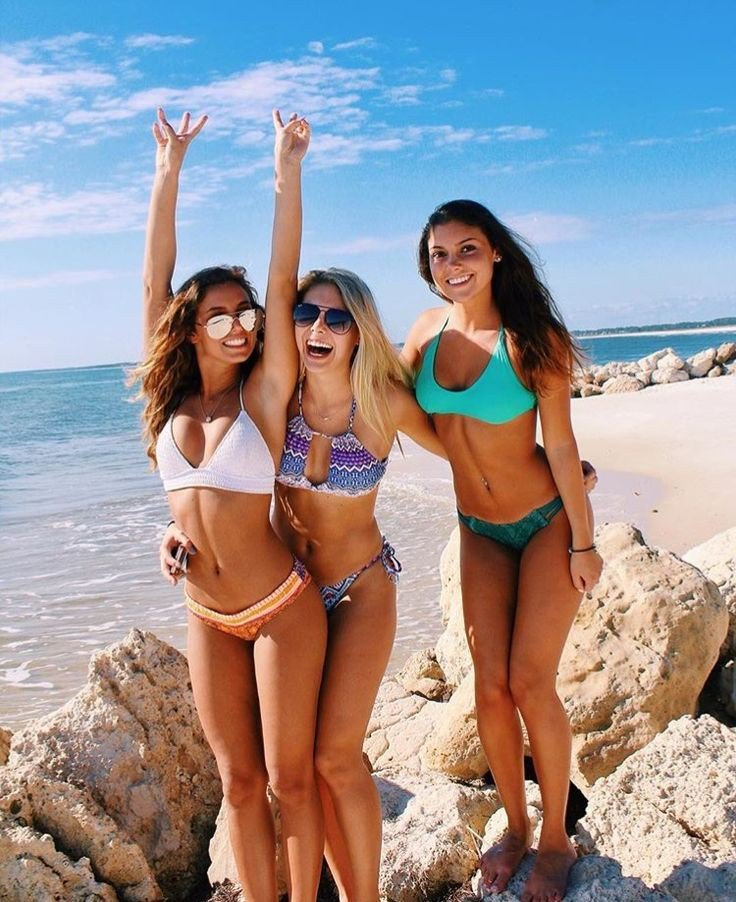 Hard pictures bikini friends mature