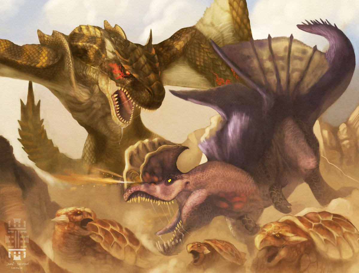 Takz On Twitter Violent Disturbance Mh Fanart Brute Tigrex Anjanath Lets have a look at monster hunter world brute tigrex as we examine the monster hunter world iceborne brute tigrex gameplay the. violent disturbance mh fanart