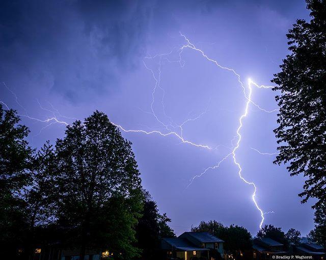 It got a little bright and loud this evening.  #lightning #thunderstorm #stormy #weather #lightningbolt #nature #mothernature #angrysky #sky #instasky #montcopa http://bit.ly/2VbP8Vg
