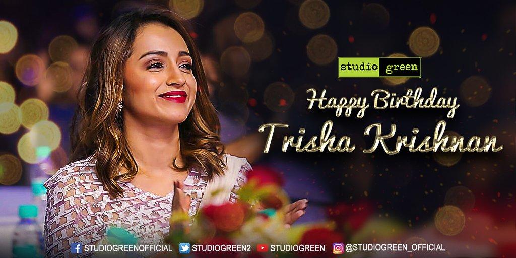 Wishing the all-talented & gorgeous @trishtrashers a very happy birthday and prosperous career ahead! #TeamSG #HBDTrishaKrishnan