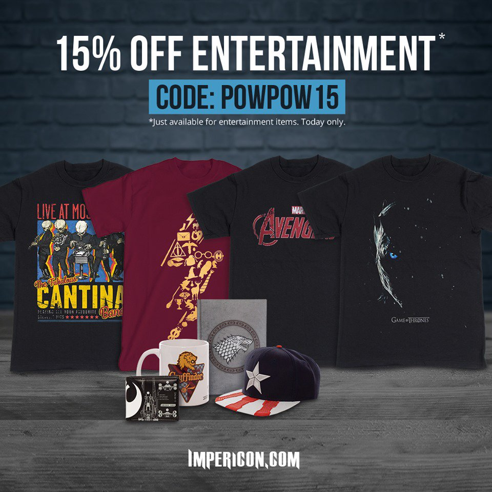cc145d1cc ... 4TH BE WITH YOU! There s 15% off all entertainment merch in store  today. Just use the code at the check out - http   imperi.cn entertainment   starwars ...