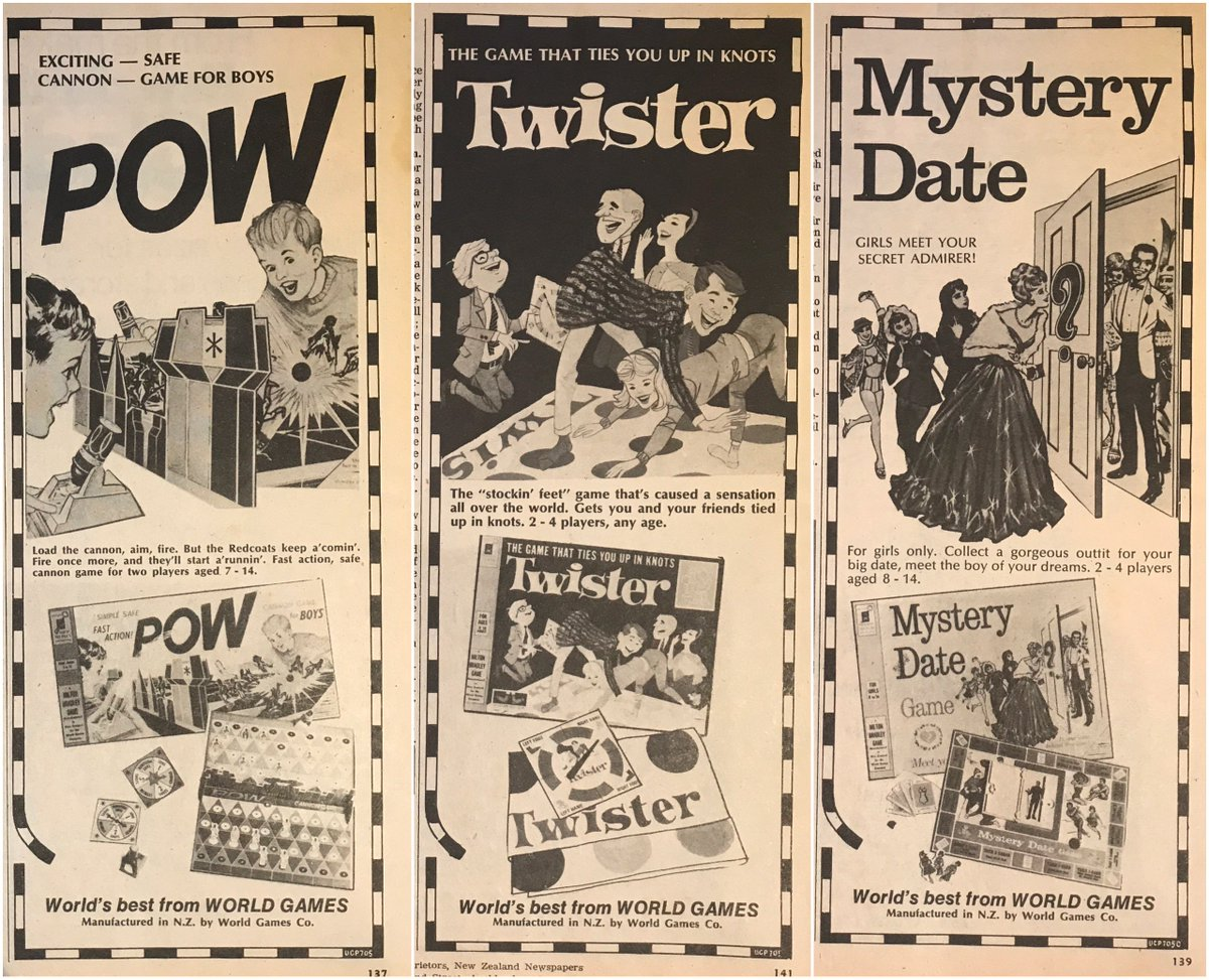 Popular board games in New Zealand #1970s #boardgames #twister #mysterydate <br>http://pic.twitter.com/0wqA7ZYG9T